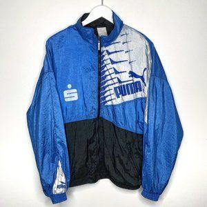 Vintage Puma Spellout Sports Track Jacket